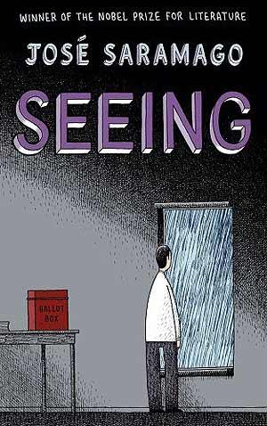 """Omslaget till den engelska utgåvan av José Saramagos """"Klarsynen""""."""