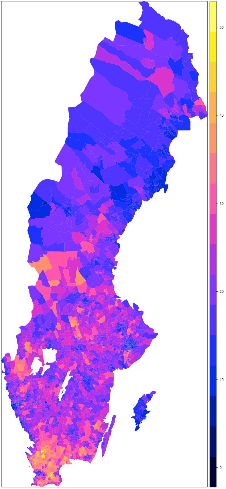 Sverigedemokraternas Stod I Stader Och Pa Landsbygden